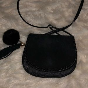 Handbags - Black leather and suede crossbody